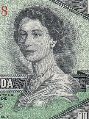 1954 BANK OF CANADA QEII $1 **DEVILS FACE** (( EF+/aUNC ))