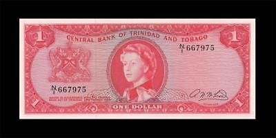 1964 British Colony Trinidad & Tobago Qeii $1 (( Gem Unc ))