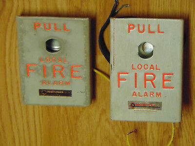 NOTIFIER BNG-1 FIRE Alarm Pull Station for Parts or Repair Lot of 2