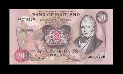 12.1.1993 Bank Of Scotland 20 Pounds (( Ef+ ))