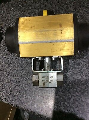 Air Operated 2 Port High Pressure Ball Valve 500 BAR WP Norton Actuator #