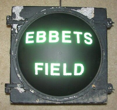 "12"" EBBETS FIELD Novelty Incandescent Traffic Signal Light"