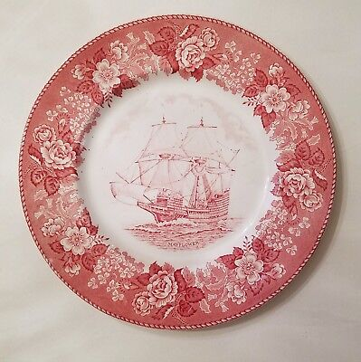 ALFRED MEAKIN OLD ENGLISH STAFFORDSHIRE WARE MAYFLOWER Dinner Plate Transferware