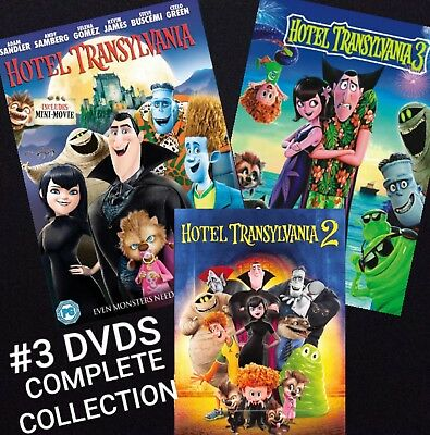 HOTEL TRANSYLVANIA 3 DVD Complete Collection(DVD, 2018)***New DVDS***Ships NOW**