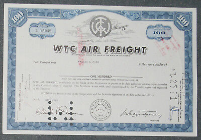 WTC Air Freight 1969 100 Shares .