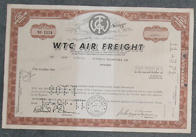 WTC Air Freight 1971 10 Shares .