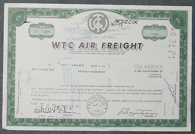 WTC Air Freight 1971 700 Shares .