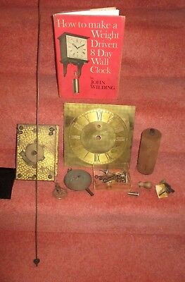 John Wilding 8 Day clock book - and Clock