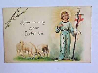Easter Postcard Printed in Germany Embossed With Glitter