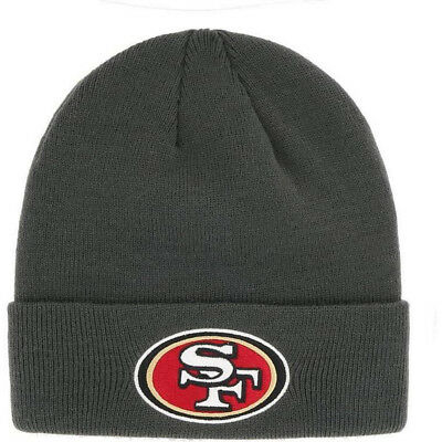 d5eb2591 SAN FRANCISCO 49ERS Gray Knit Cuffed Beanie Hat Cap Nfl Licensed