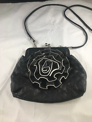 Small Black Vtg Leather Style Purse