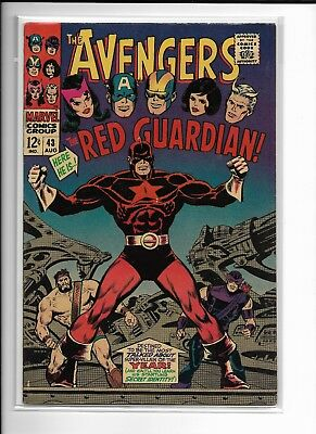 AVENGERS 43 1st app. RED GUARDIAN Marvel Comic Book Silver Age Key Issue