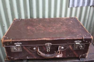 An Old Leather Suit Case