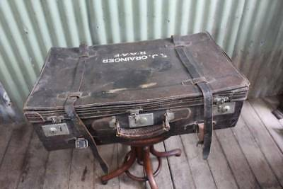 An Old RAAF Leather Travel Suitcase