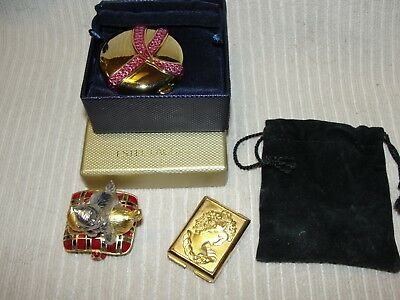 3 ESTEE LAUDER Collectible Compacts Breast Cancer Lucidity PLAYFUL KITTENS Cameo