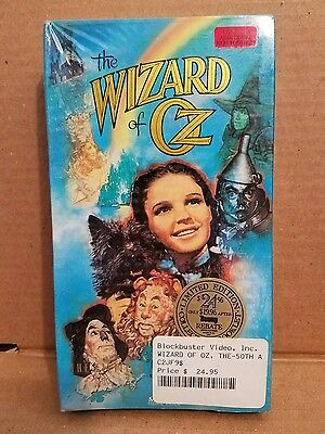 1989 Wizard Of Oz Vhs Tape 50Th Anniv In Shrink! Color & Sepia Rare Footage+Book