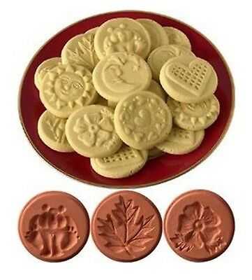 JBK Pottery Cookie Stamp 3-Piece Set, Nature Collection FREE SHIPPING