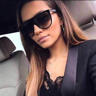 f1664939948 Shadow Fashion Flat Top Oversized Sunglasses Thin Frame Gradient Lens Women