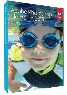 Adobe Photoshop Elements 2019 VOLLVERSION DEUTSCH DVD-Box NEU & OVP
