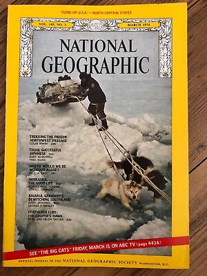 National Geographic Magazine Vintage March 1974  Northwest Passage With Map
