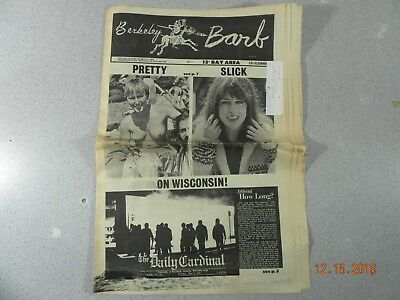 Berkeley Barb # 195, 1969 Underground Newspaper UW Madison Riots Grace Slick