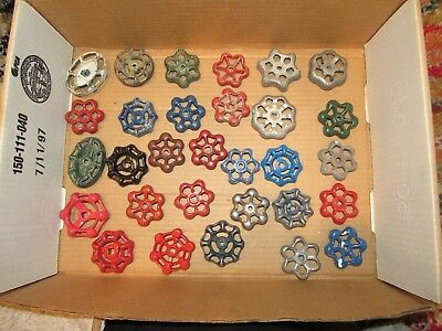 LOT of 30 WATER VALVE FAUCET HANDLES VINTAGE INDUSTRIAL STEAMPUNK SALVAGE Lot 9