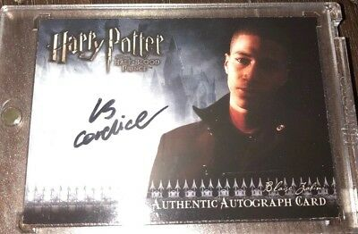 Harry Potter and the Half-Blood Prince Update Autograph Card Louis Cordice Auto