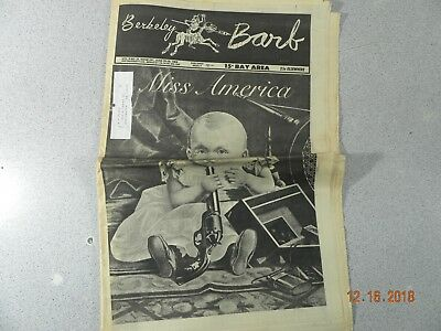 Berkeley Barb # 201, 1969 Underground Newspaper Get Weary Tripping With Leary