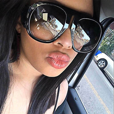 XXL Large Oversized Aviator Women Sunglasses Retro Fashion Thick Plastic Frame