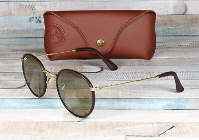 RayBan RB3475Q-112 53 ROUND CRAFT MTE ARISTA BROWN LTHR crystal brown  Sunglasses a59b5a208d