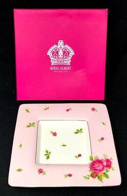 "Royal Albert New Country Roses Pink 6""  Trinket Tray NEW IN BOX"