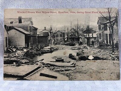 RPPC Wrecked Homes On West Wilson St In The Great Flood Of 1913 HAMILTON OH