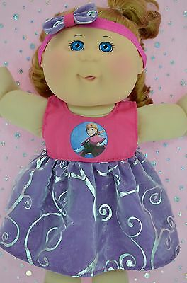 "Play n Wear Doll Clothes To Fit 14"" Cabbage Patch FLORAL ORGANZA DRESS~HEADBAND"