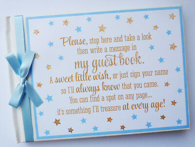 Twinkle Twinkle Little Star Birthday / Baby Shower Guest Book - Any Design