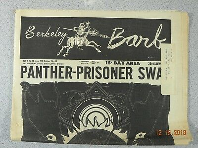Berkeley Barb # 219, 1969 Underground Panther Prisoner Swap San Francisco
