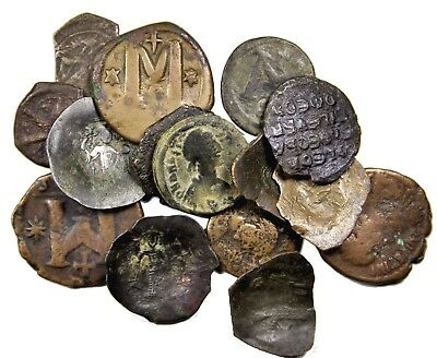 Lot of 15 Byzantine Bronzes