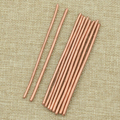 5pcs Copper Bar Rods Cylinder 100mm Length Brass Welding Solder Accessories