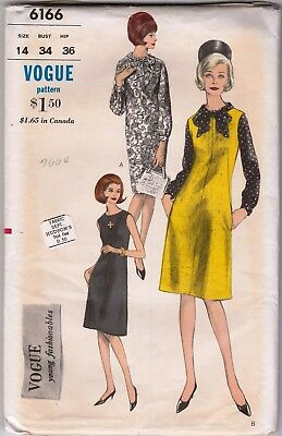 Vintage Vogue Pattern 6166, Size 14 - 1960s Dress, Blouse & Jumper