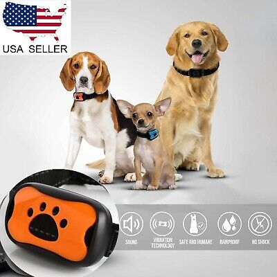US Small Medium Large Dog Anti Bark Collar Puppy Stop Barking Sound & Vibration