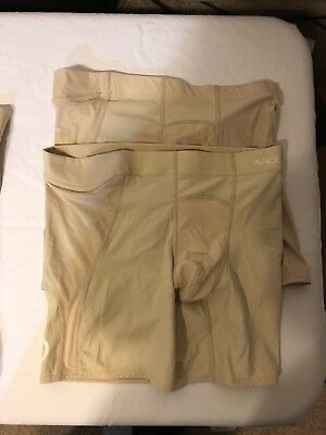Skins A-400 White And Tan Compression Shorts XS, S In White. L And XL In Tan