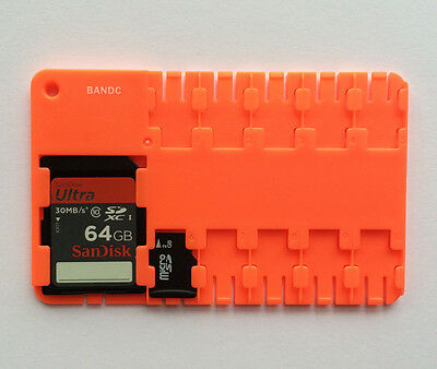 Bandc Micro SD/SDHC/SDXC Memory Card Storage Holder Case (cards not included)