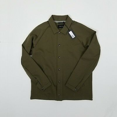 NWT Wings + Horns Neo Knit Coach's jacket - olive green - large L - NEW - $295