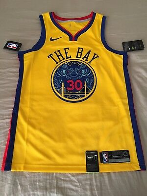 sale retailer 52c08 df0b1 NIKE STEPHEN CURRY Golden State Warriors Chinese New Year Jersey Med 44  City Bay