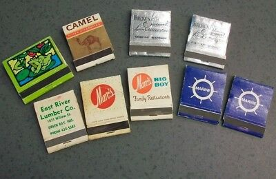 Vintage old matchbook lot, Big Boy, Camel, GreenBay Wi Banks.  Lot as shown