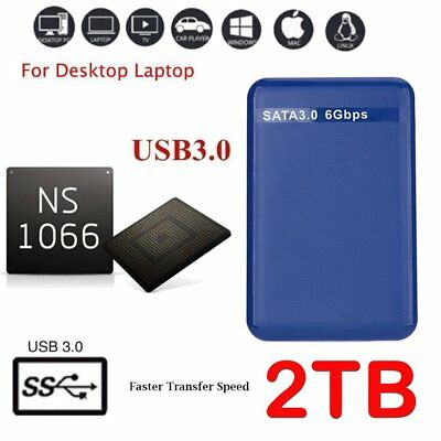 "Expansion HDD Disk 2TB USB3.0 2.5"" Portable External Hard SATA PC & PS4 5400RPD3"