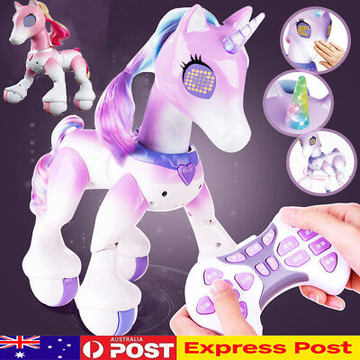 Electric Smart Horse Unicorn Interactive Girl Kids Education Robot Xmas Toy Gift