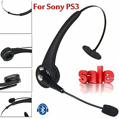 Trucker over the Head Wireless Bluetooth boom Mic Headset Headphone Earphone US