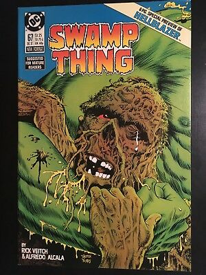 Swamp Thing #67 (1987, DC) VF+/NM-Hellblazer Preview! Solomon Grundy Veitch