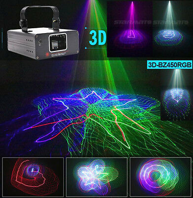 Stage lights DMX 3D Spider web Effect 450mW RGB Laser DJ Disco Party Light