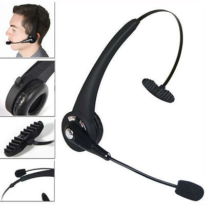 Noise Cancelling Wireless Handsfree Bluetooth Boom Mic Headset For Trucker US FH